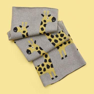Kenzi Living Giraffe Baby Blanket