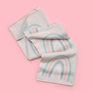 Kenzi Living Rainbow Baby Blanket 80cm x 100cm