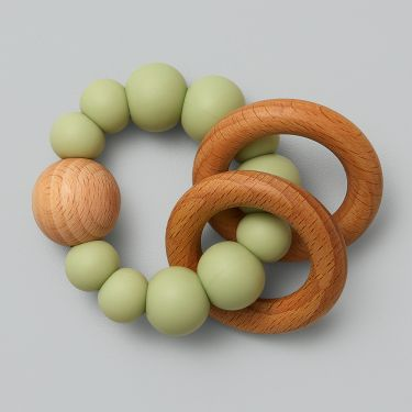 Nature Bubz Moss Luna Rattle Teether and Teething Toy