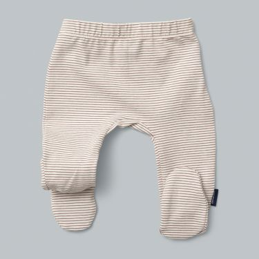 Pappe Elderberry Stripe Organic Baby Footed Legging 0-3m