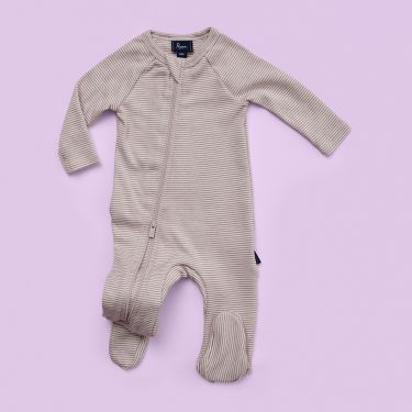 Pappe Mimi Elderberry Foot Romper. Size 000