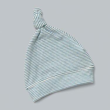 Pappe Romsey Corsair Stripe Organic Baby Knot Hat 0-3m