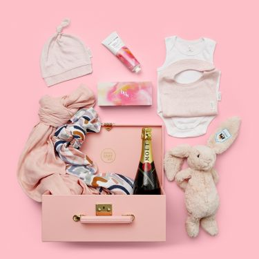 Pink Rainbows Baby Girl Gift Hamper