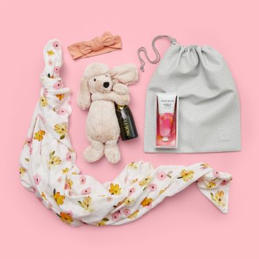 Pop Poppies and Poodle Baby Girl Gift Hamper