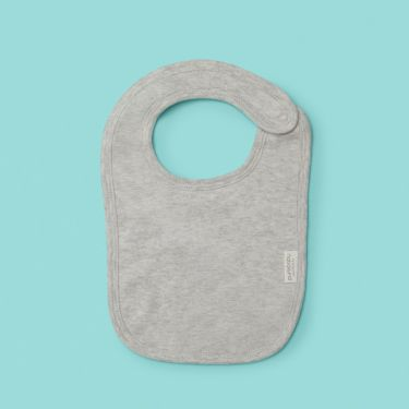 Purebaby bib in grey melange