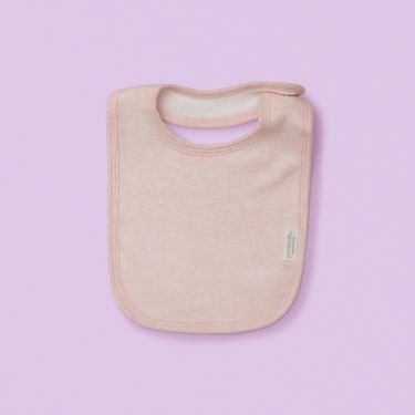 Purebaby Bib Pink Melange