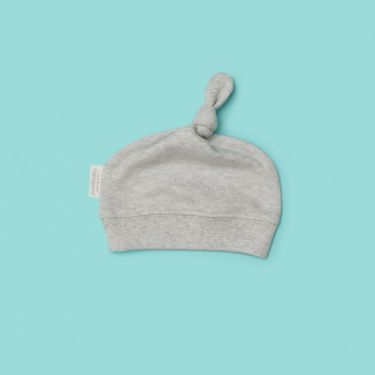 Purebaby Knot Hat grey Melange