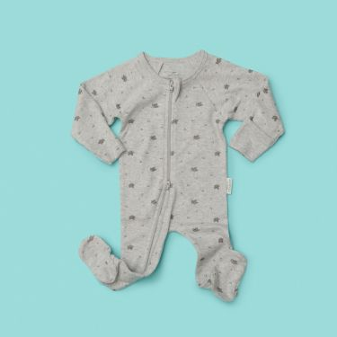 Purebaby zip growsuit in grey size 000