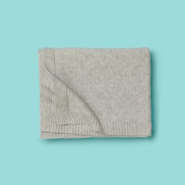 Purebaby Pale Grey Essentials Organic Cotton Blanket