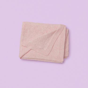 Purebaby Organic Cotton Pink Baby Blanket Pink