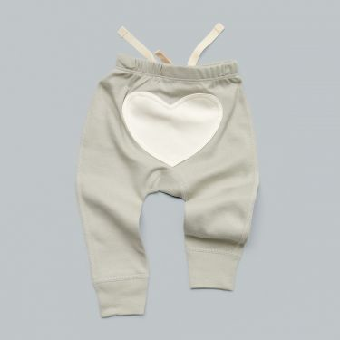 Sapling Child AU Dove Grey Heart Pants