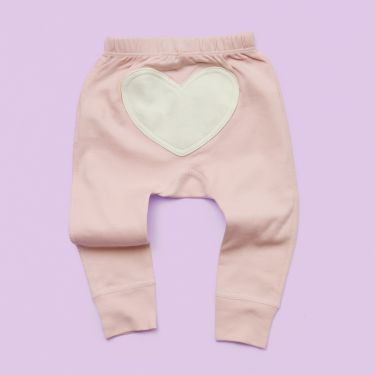 Dusty Pink Heart Pants sized 3 - 6 months
