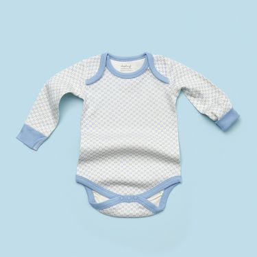 Sapling Child AU Little Boy Blue Bodysuit sized 3 to 6 months