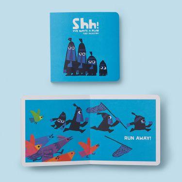 Shh We Have a Plan Board Book by Chris Haughton