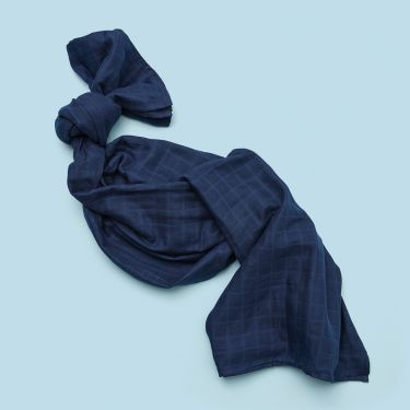 Snuggle Hunny Kids Navy Blue Organic Cotton Muslin Wrap