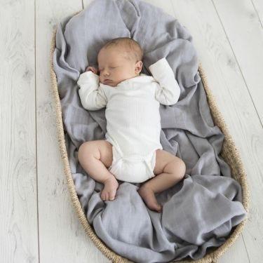 Snuggle Hunny Kids Storm Grey Muslin Wrap | Soul Baby Gifts