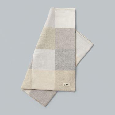 Uimi Frankie Merino Wool Baby Blanket Size: Bassinet Colour: Silver