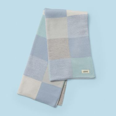 Uimi Frankie Merino Wool Baby Bassinet Blanket in Sky