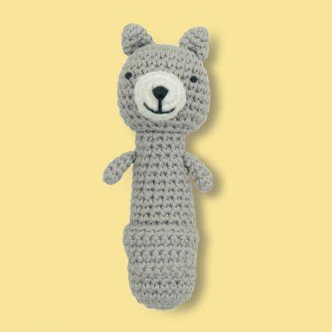 Weegoamigo Kangaroo Crochet Rattle Toy