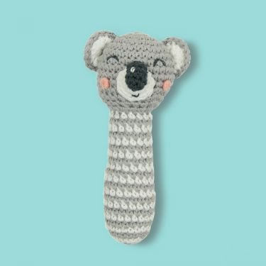Weegoamigo Koala Crochet Rattle Toy