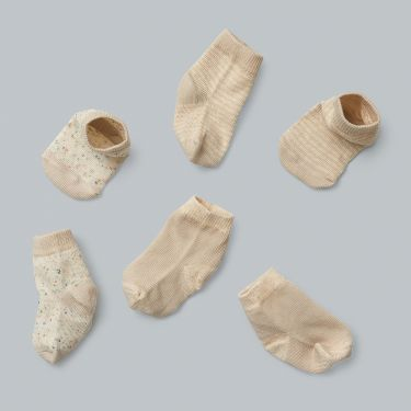 Wilson and Frenchy Cotton Nylon 3 Pack Baby Socks Clay 000