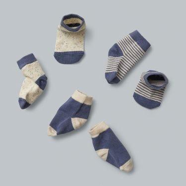 Wilson and Frenchy Cotton Nylon 3 Pack Baby Socks Raindrop 000