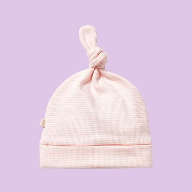 Wilson and Frenchy Organic Stripe Rib Knot Hat Cantaloupe 000