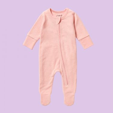 Wilson and Frenchy Organic Terry Zipsuit Cantaloupe 000
