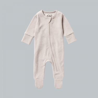 Wilson and Frenchy Organic Terry Zipsuit Clay 000