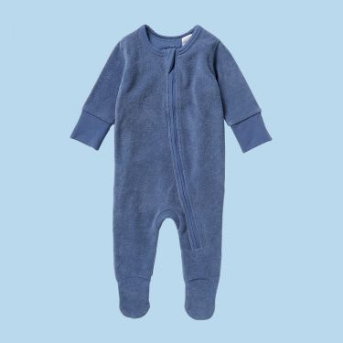Wilson and Frenchy Organic Terry Zipsuit Rain Drop 000