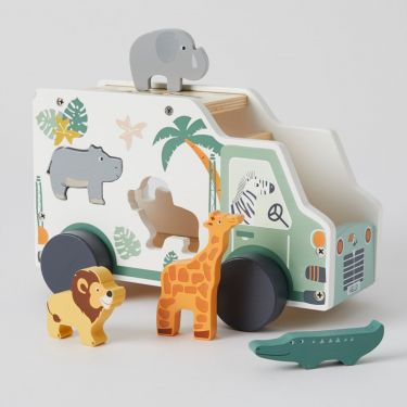 Zookabee African Animal Puzzle Truck Wooden Toy