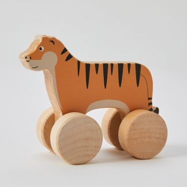 Zookabee Wooden Rolling Tiger Toy