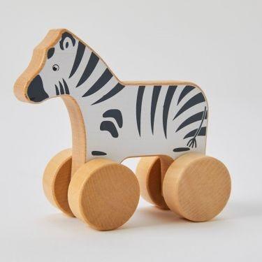 Zookabee Wooden Rolling Zebra