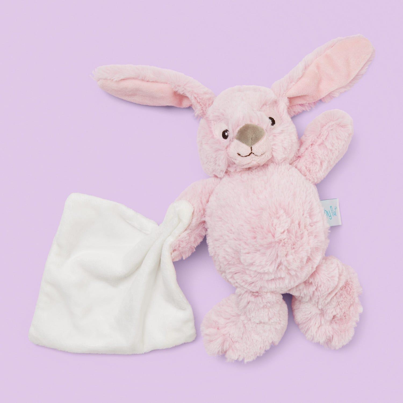 Baby Nat Pink Rabbit with Doudou 15cm
