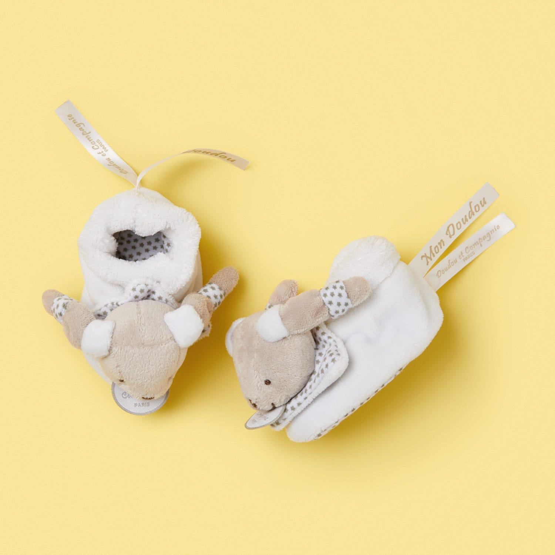 Doudou et Compagnie Paris newborn beige booties 0-6 months